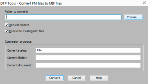 Convert FM to MIF window